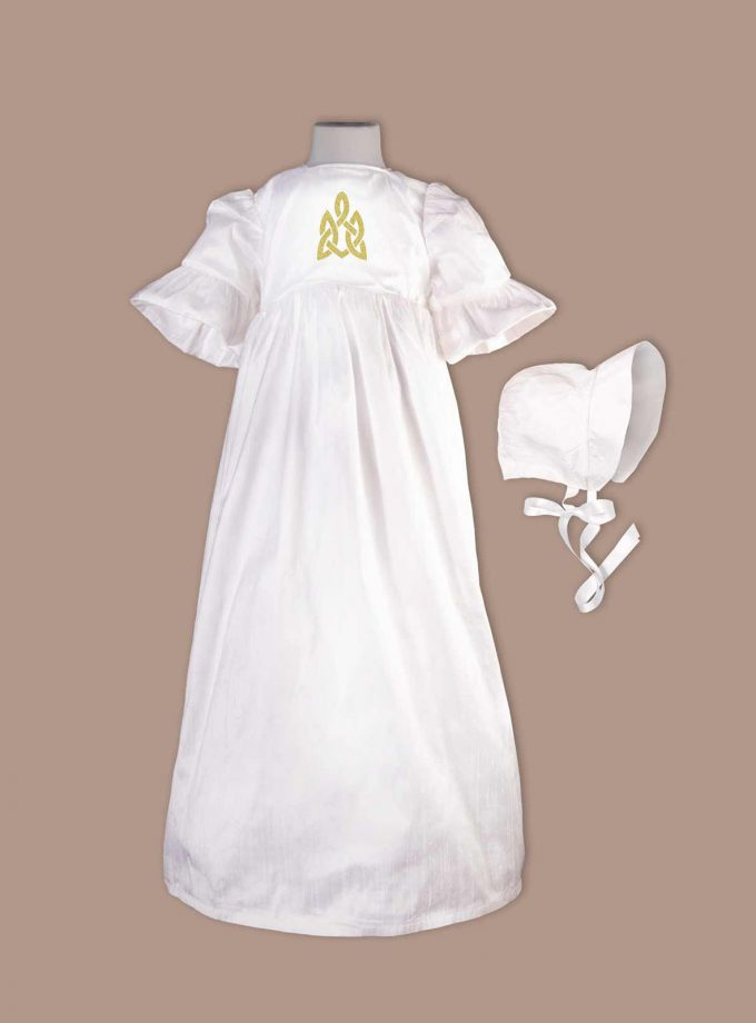irish Cavan christening gown with bonnet