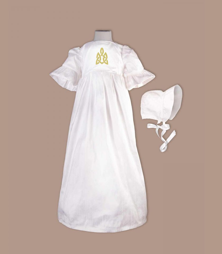 irish Cavan christening gown with bonnet