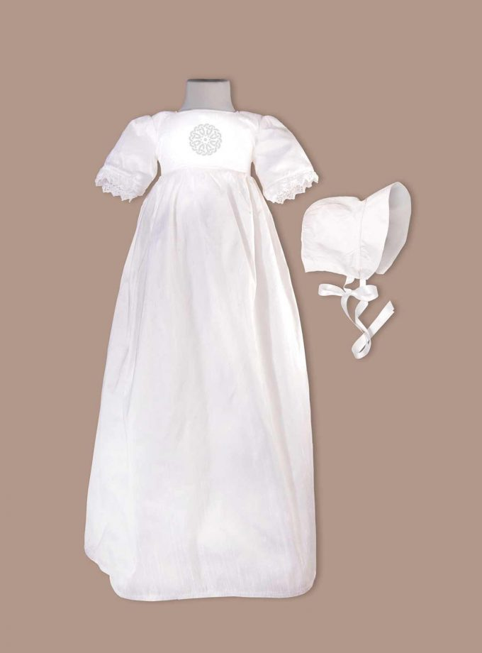 irish Cork christening gown with bonnet