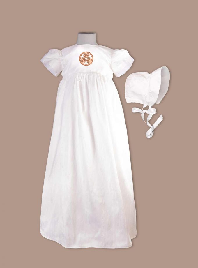 irish Derry Christening Gown with bonnet