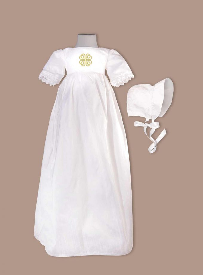 irish Dublin Christening Gown with bonnet
