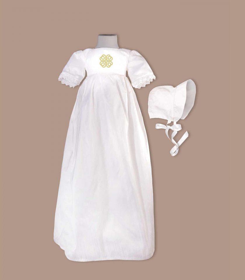 irish Dublin Christening Gown with bonnet