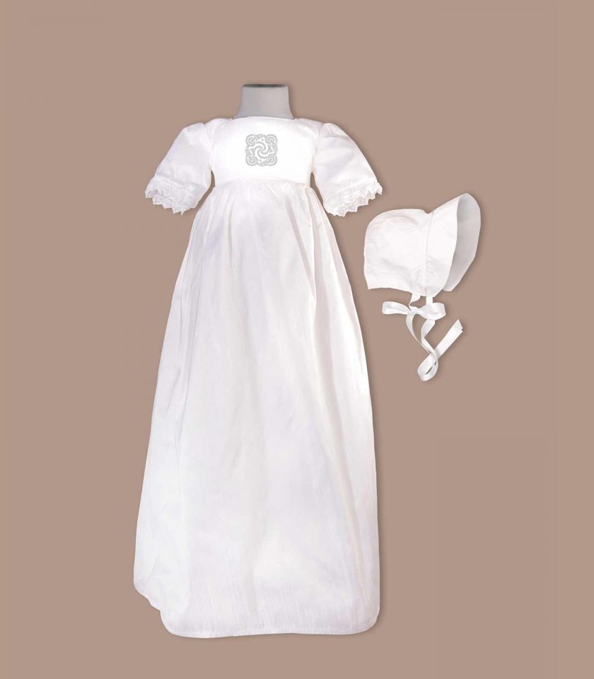 irish Kerry Christening Gown with bonnet