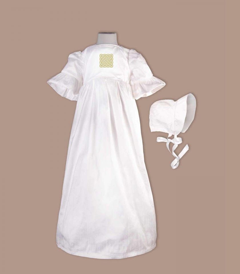 irish christening gown with bonnet