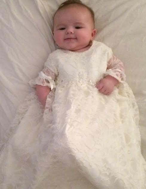 Lace Christening Gown